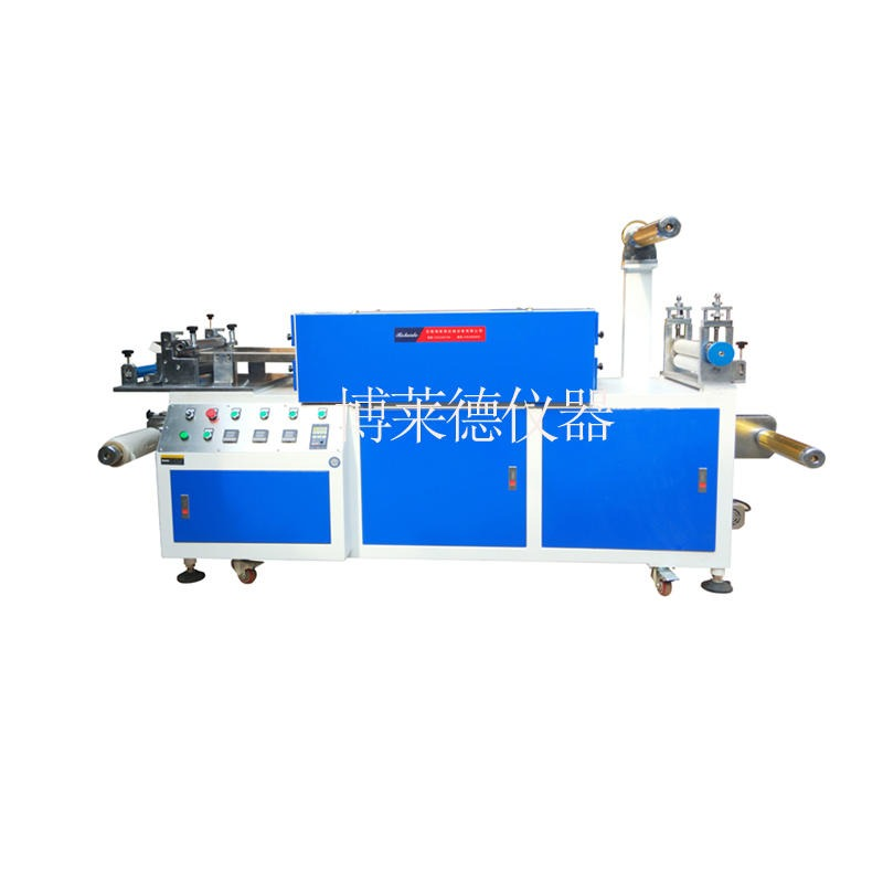 博莱德     BLD-RRJ6025       水性有熔剂胶UV2米烘道实验室涂布机 小型生产带纠偏实验室涂布机