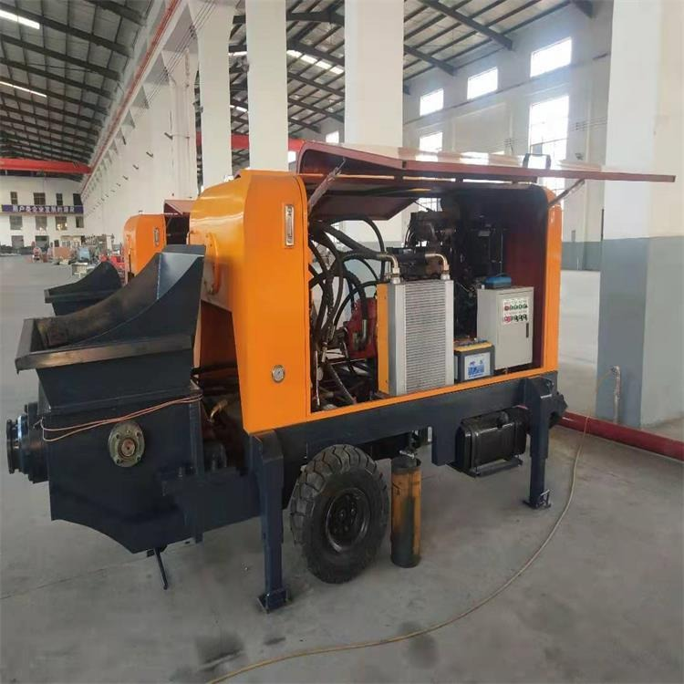 騰澤新型混凝土輸送泵生產廠家 多功能大顆粒石材上料機 TZ-40二次構造柱泵報價