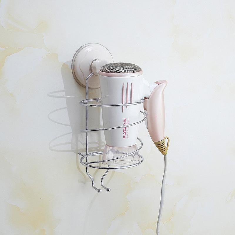 厂家批发 创意不锈钢墙面电吹风置物架 家居日用品吹风机收纳架示例图9