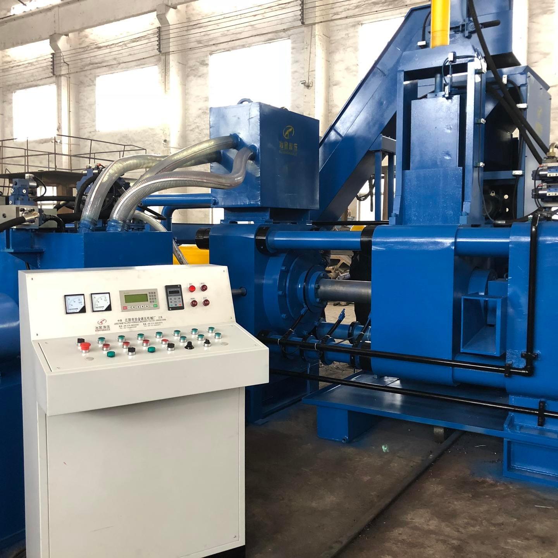廠家直銷鐵刨花壓塊機 高產量全自動壓塊機臥式壓塊機
