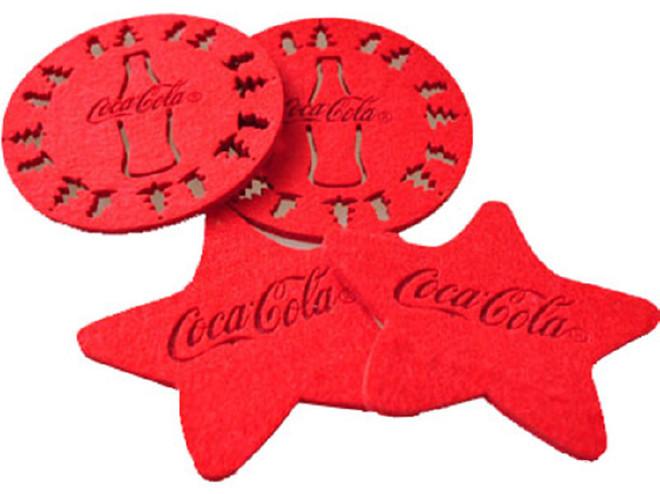 供应毛毡杯垫彩色隔热垫 吸水防滑餐垫镂空杯垫 颜色图案可定制示例图2