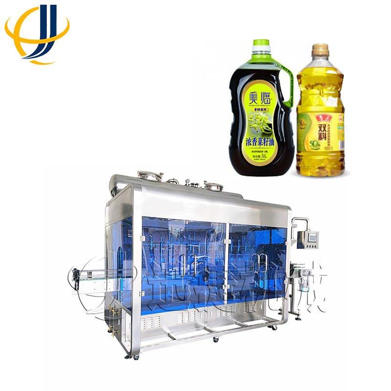 迅捷自动食用油灌装机 高精度 山东 液体灌装机厂家 现货迅捷机械002