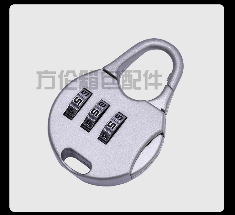 拉杆箱密码锁旅行箱包密码钥匙 迷你密码锁锌合金机械密码锁现货示例图9