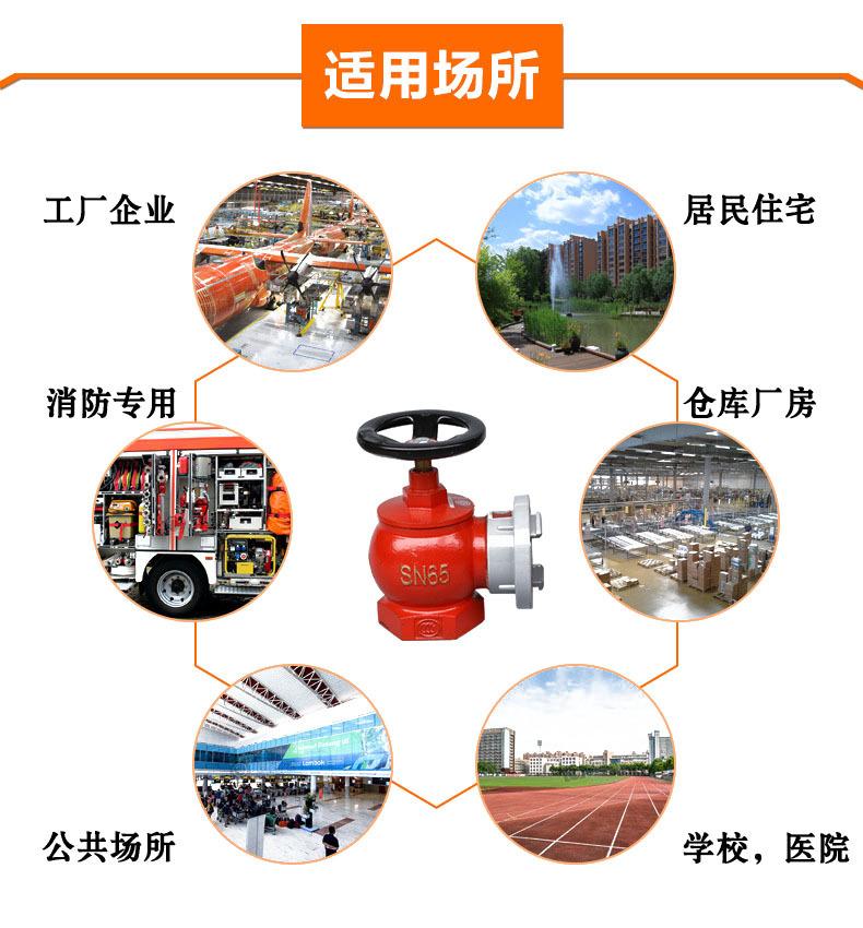 厂家直销旋转型减压稳压室内DN65消火栓SN65室内栓SNJ65减压栓示例图8