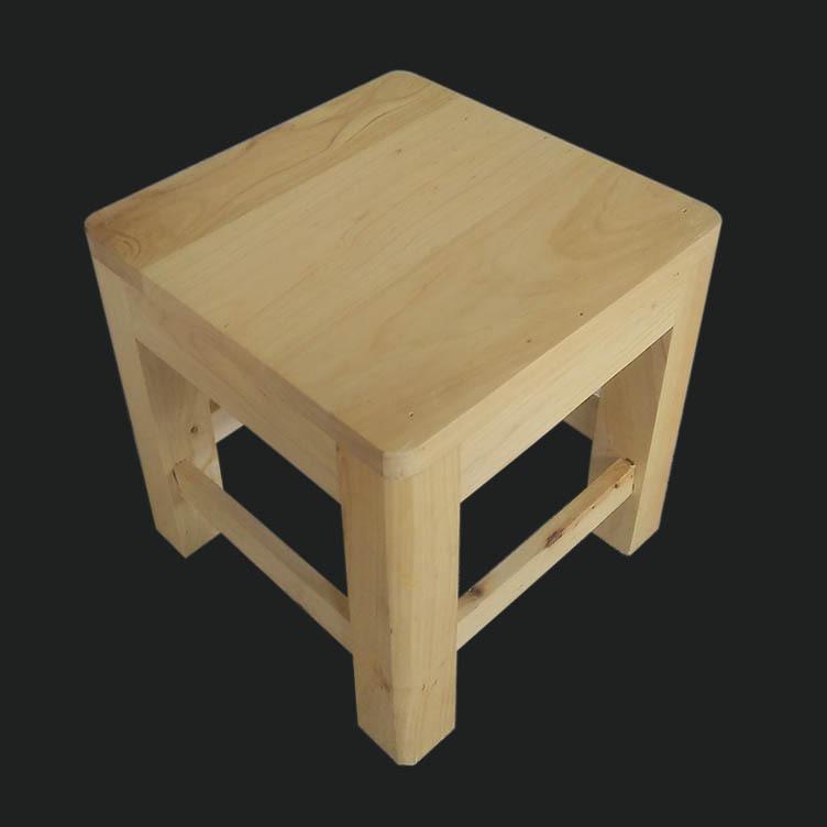鑫繁木业直销柏木家用小方凳适用凳子实木幼儿园儿童小板凳木凳示例图8