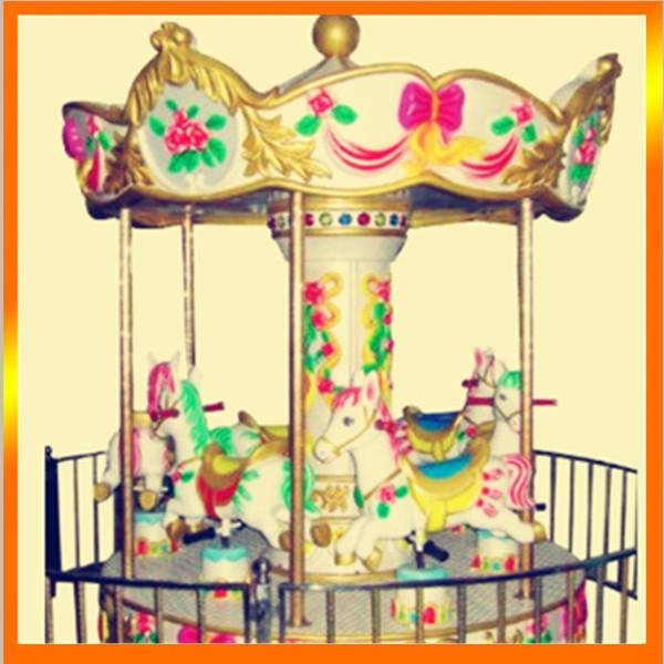 供应小型游乐设备儿童迷你转马 宫廷6座豪华转马大洋供应商示例图14