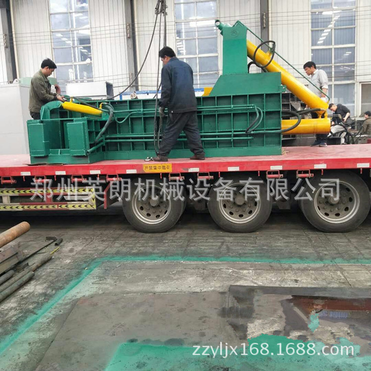 卧式高效废旧金属压块机 废铁压块机 金属废料液压压块机示例图12