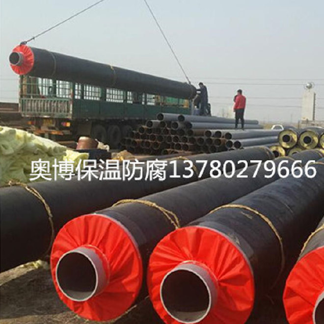 厂家直销 保温钢管 预制保温钢管 定做聚氨酯直埋式保温钢管示例图5