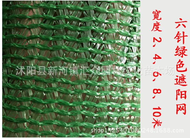厂家直销6针黑色遮阳网 农用大棚汽车遮阴网防晒网 蓝绿色遮阳网示例图3