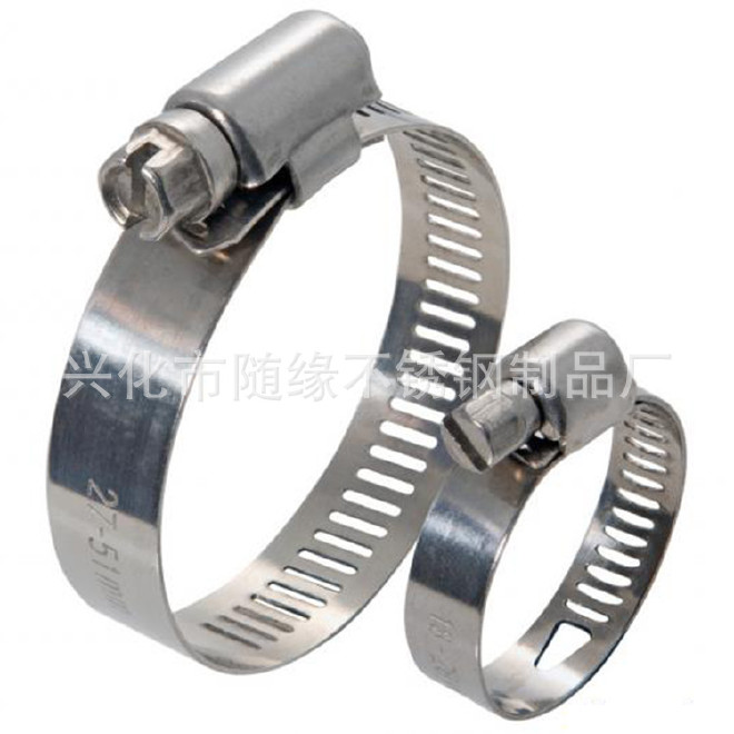 厂家生产不锈钢强力箍12mm美式304不锈钢喉箍 固定卡箍抱箍规格齐示例图8