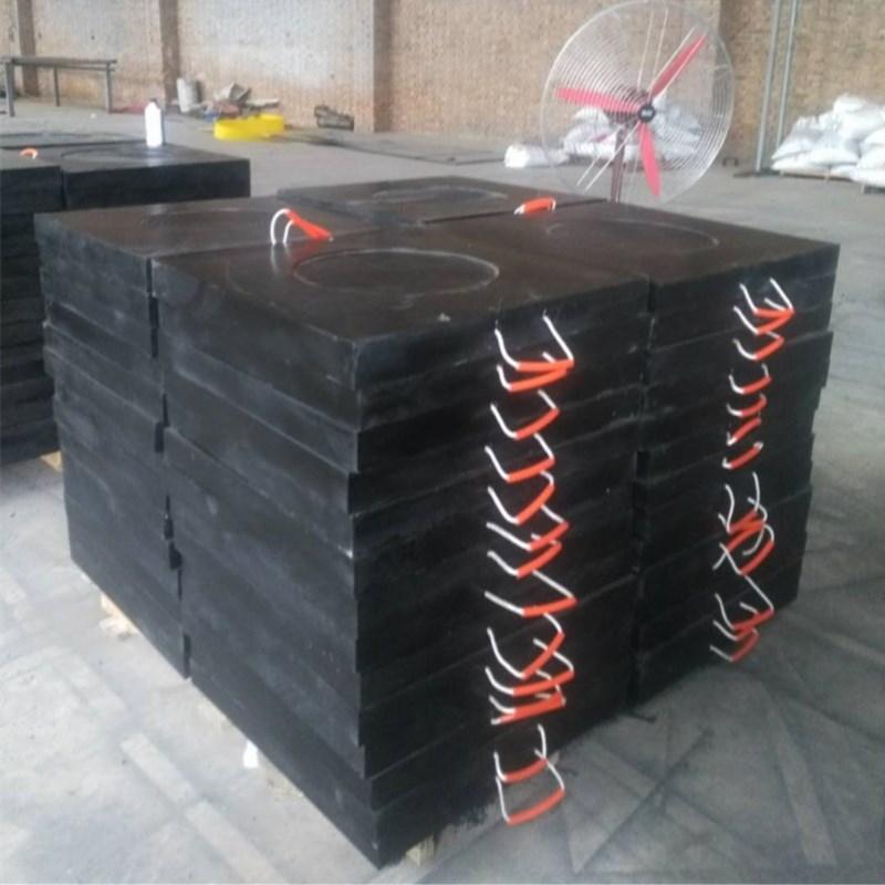厂家直销三一中联支腿垫板 吊车高分子垫脚板 平面凹槽泵车垫板示例图8
