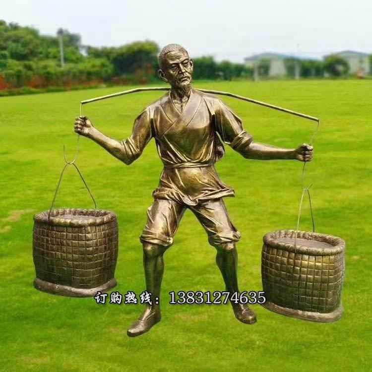 批发农耕人物雕塑长期有效 加工玻璃钢人物雕塑专业加工 玻璃钢农耕雕塑专业定制唐韵雕塑