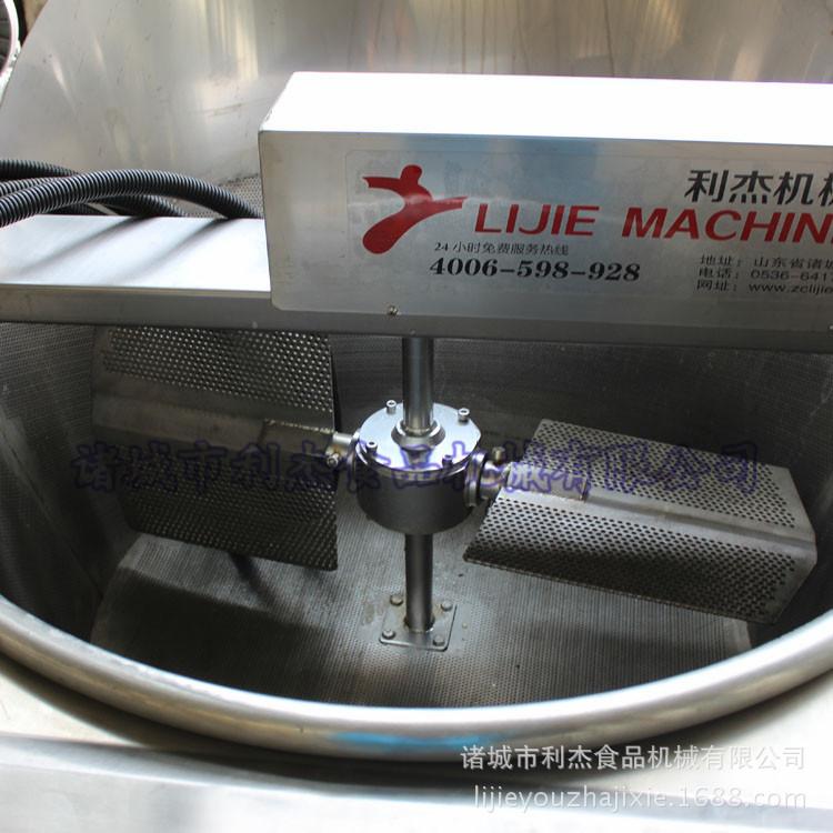 利杰油炸锅生产厂家面条鱼带鱼鱿鱼自动油炸锅流水线不锈钢油炸设备电加热自动搅拌油炸机示例图5