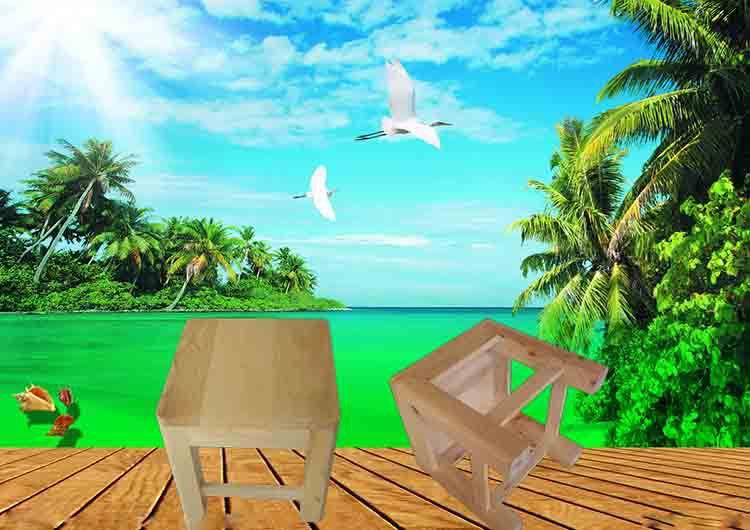 鑫繁木业直销柏木家用小方凳适用凳子实木幼儿园儿童小板凳木凳示例图4