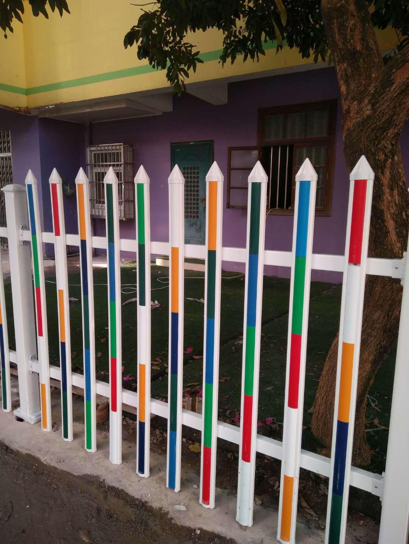成品白色塑钢栅栏 园林绿化塑料栅栏pvc幼儿园围墙围栏  厂家直销示例图17