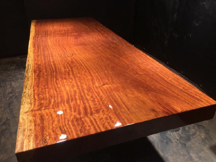奥坎竞技宝和雷竞技哪个好大板原木餐桌 中式茶桌 老板办公雷竞技靠谱吗套装组合巴花大板示例图17