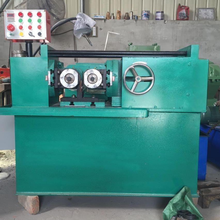 厚德小型螺紋機床生產廠家 Z28-40液壓滾絲機價格 滾絲輪的調試方法