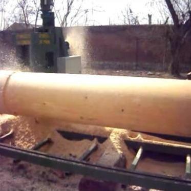 介紹古建圓梁加工圓木車床操作步驟,圓木機規格。
