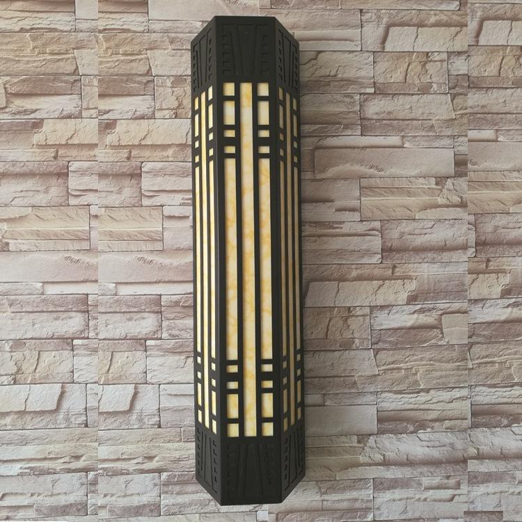 厂家直销 LED壁灯 庭院灯 走廊灯 亚克力 仿云石 复古壁灯 户外