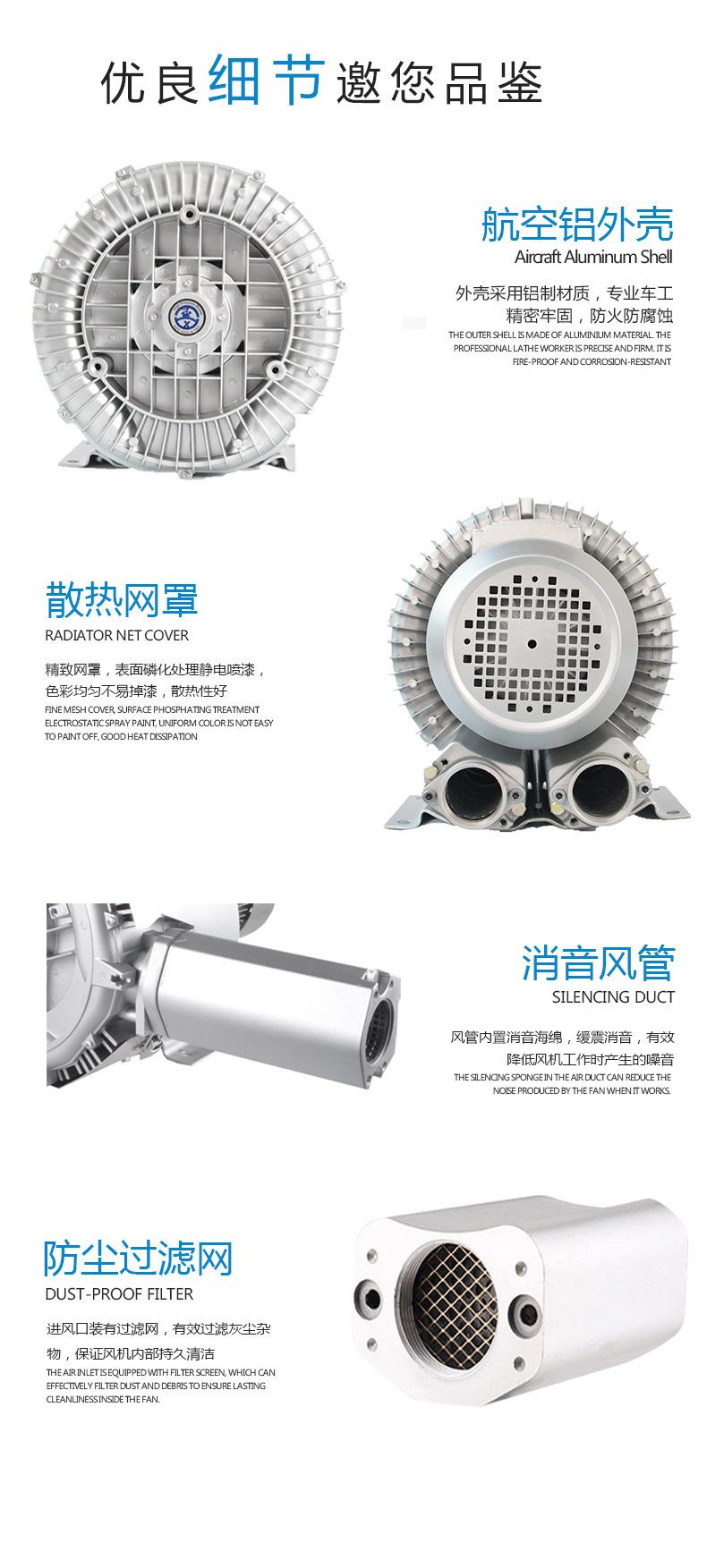 魚塘增氧氣泵,魚塘增氧旋渦氣泵,魚塘增氧高壓氣泵示例圖8