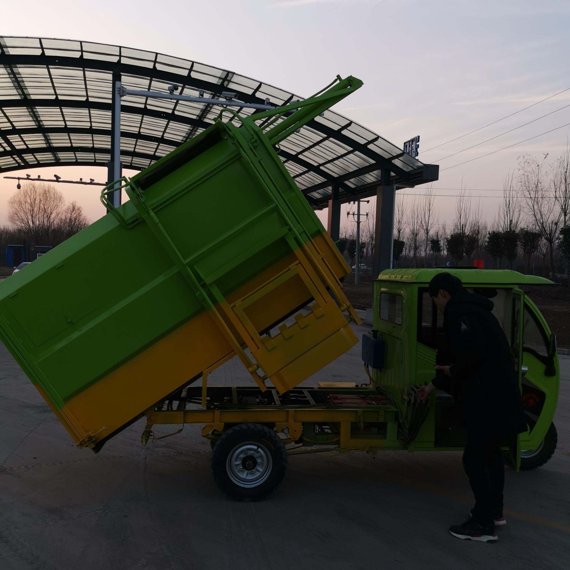 电动挂桶垃圾车 小区物业垃圾清运车 电动拉垃圾车 正谦 质量可靠示例图5