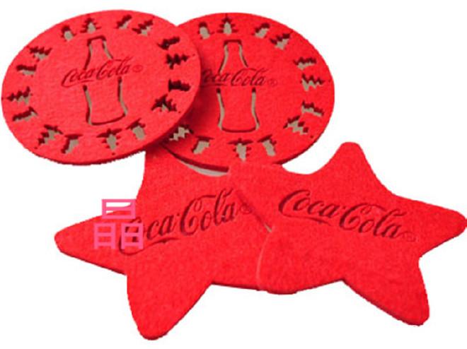 新款毛毡杯垫 创意家居镂空毛毡杯垫餐垫促销礼品杯垫 定制Logo示例图3