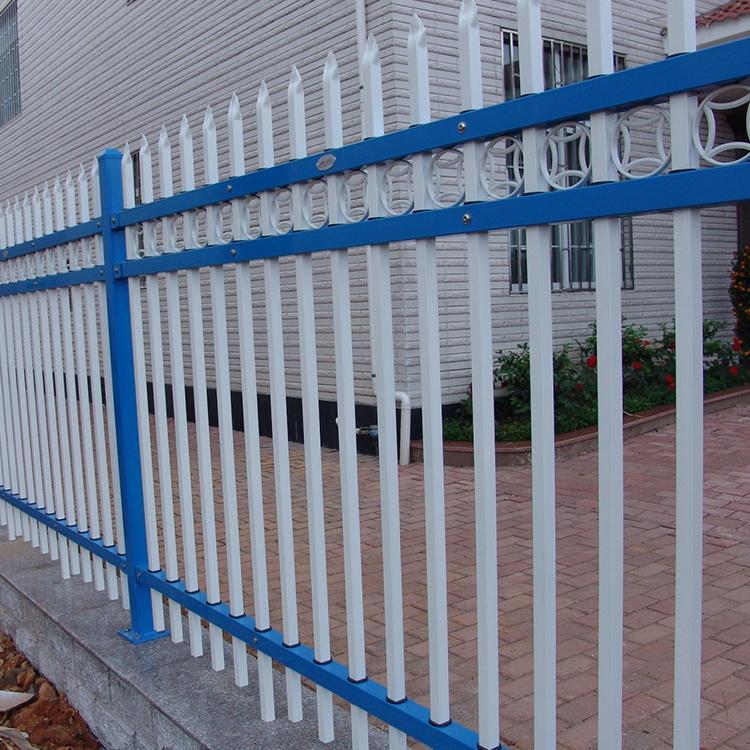 别墅围墙锌钢护栏 小区围墙锌钢护栏 锌钢草坪护栏批发 云旭 源头厂家发货