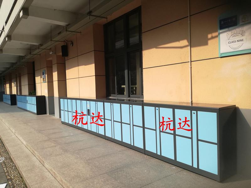 公司刷卡联网电子更衣柜杭州第九中学校联网书包柜储物柜示例图6