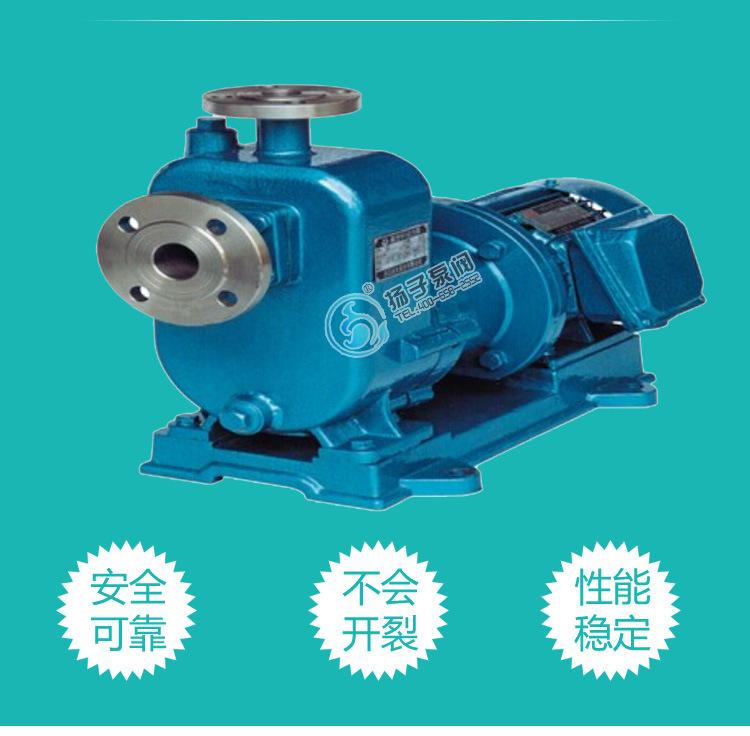 强酸强碱输送泵 ZCQ50-40-200 耐腐蚀不锈钢316自吸磁力泵 批发示例图4