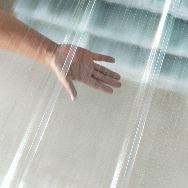 采光瓦 屋顶透明玻璃钢瓦 透明波纹瓦 树脂瓦厂家批发