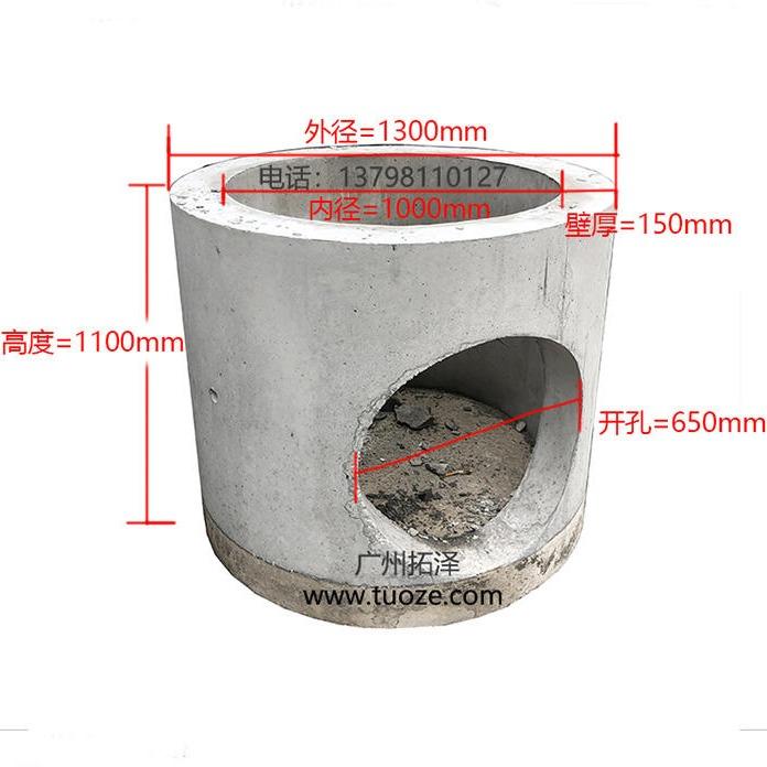 预制水泥检查井,底座井筒盖板,一体式沙井