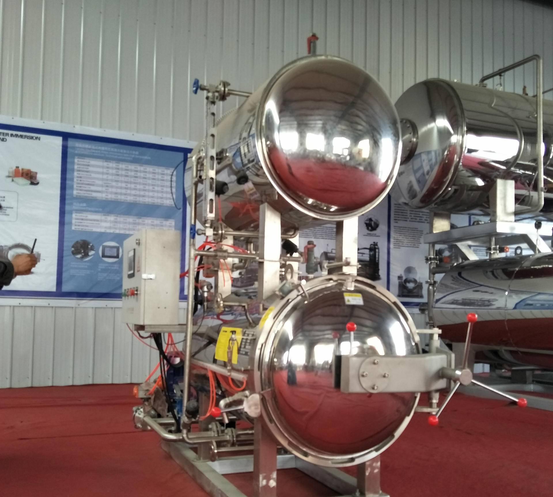 醬牛肉高溫殺菌鍋設備廠家 直銷鹵牛肉滅菌鍋機器 含安裝圖片