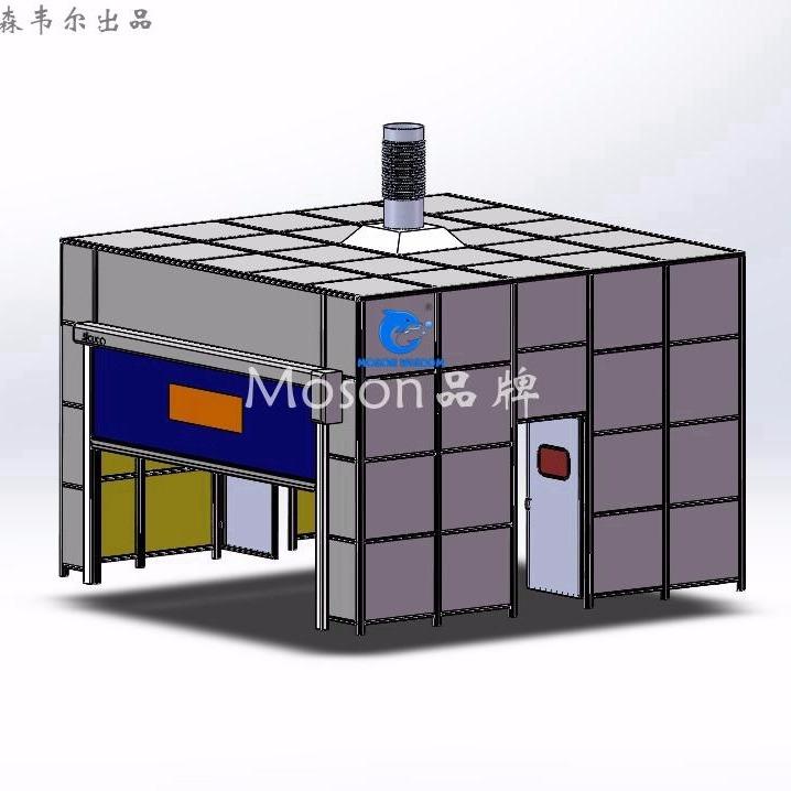 Moson品牌 机器人焊接房 弧焊房 机器人防护房 专业生产厂家