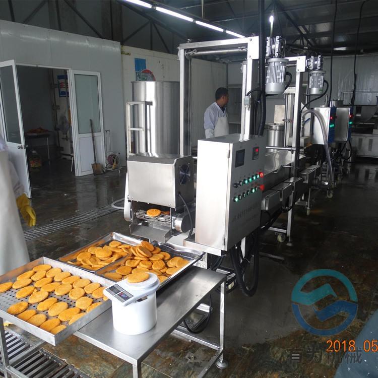 有为肉饼上浆机 多种形状肉饼成型机 CXJ-100汉堡肉饼上糠生产线