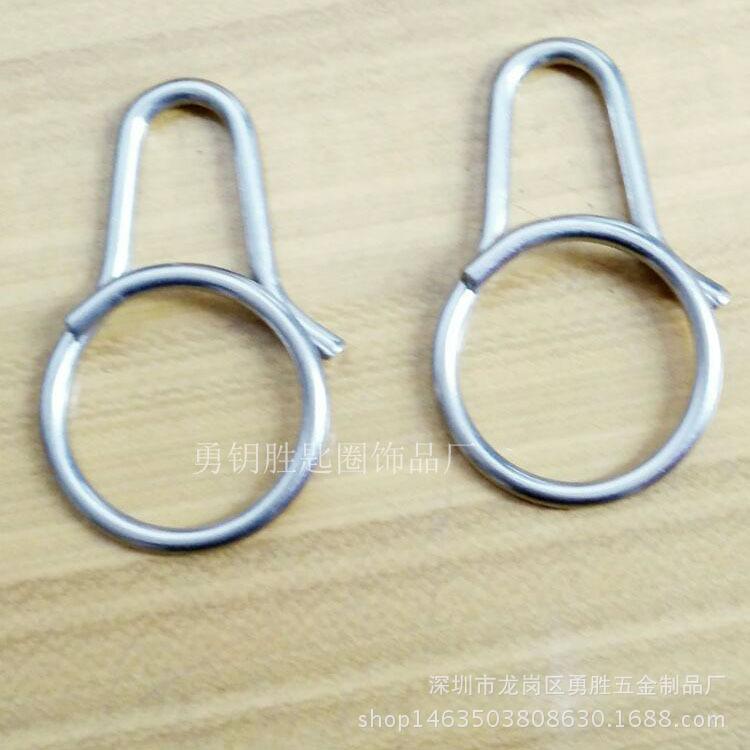 一体快拆式钥匙扣 创意钛合金匙圈挂件 原创设计男女钥匙环示例图5
