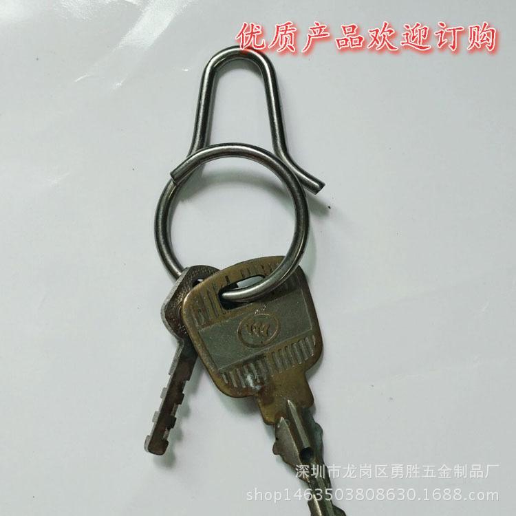 一体快拆式钥匙扣 创意钛合金匙圈挂件 原创设计男女钥匙环示例图1