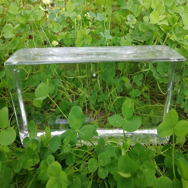 厂家直销透明实心玻璃砖 水晶热熔透明隔断玄关墙抛光砖 定尺定做
