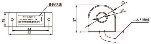 安科瑞,测量型电流互感器,AKH-0.66-60I,额定电流比1000-2500/示例图26