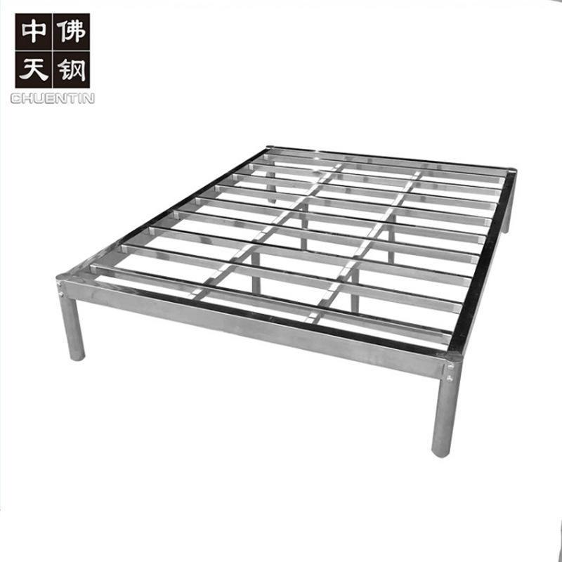 廠家批發 廠家直銷  簡約不銹鋼雙人床 出租屋不銹鋼床