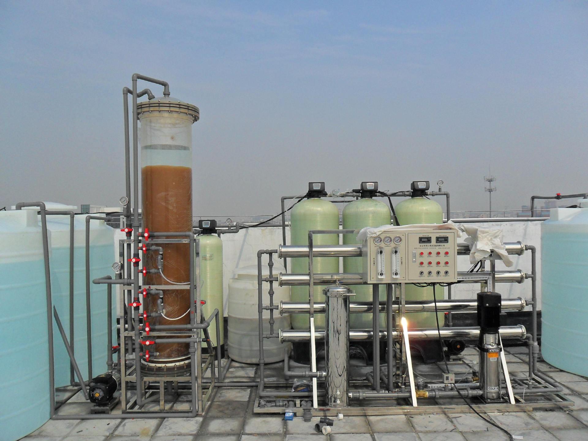 6噸電鍍制藥混床離子交換反滲透設備示例圖1