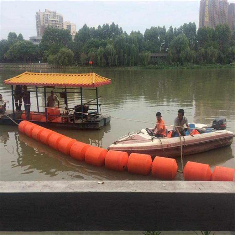 莲池水面杂草拦截浮体 水产养殖区域水面警示浮排 淮河水面漂浮物拦污浮筒