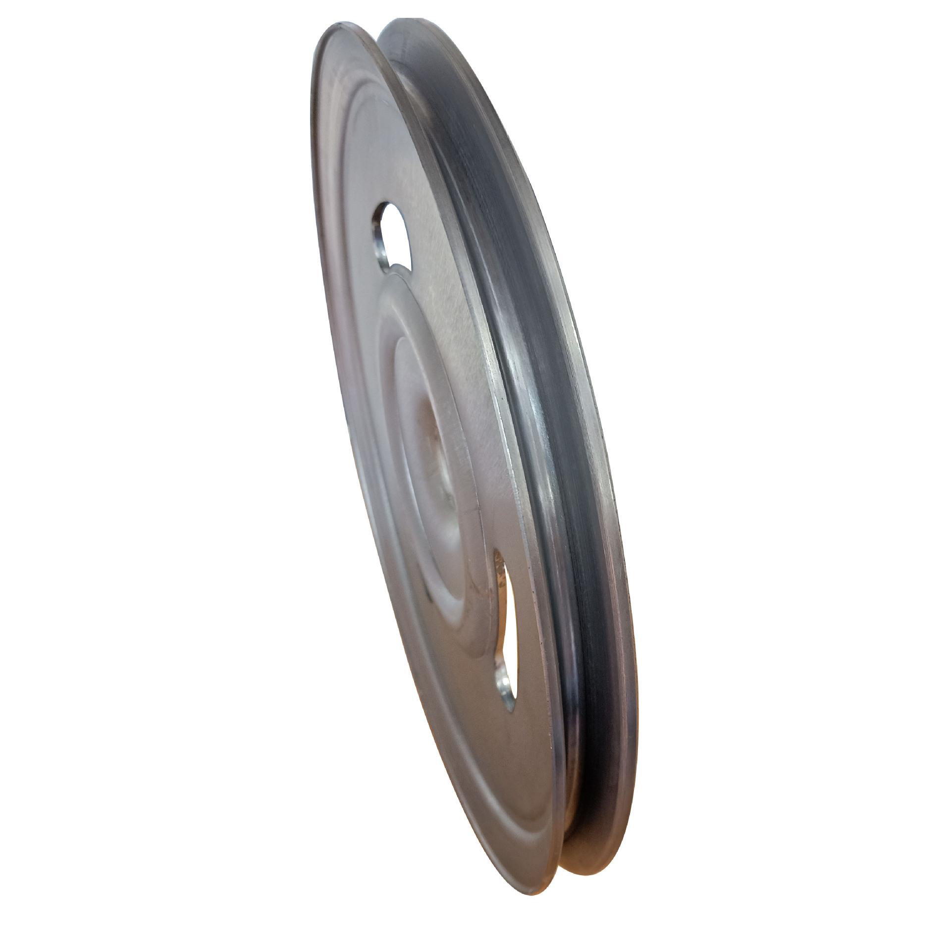 新款熟铁旋压单槽劈开式皮带轮可定做异形轮示例图5