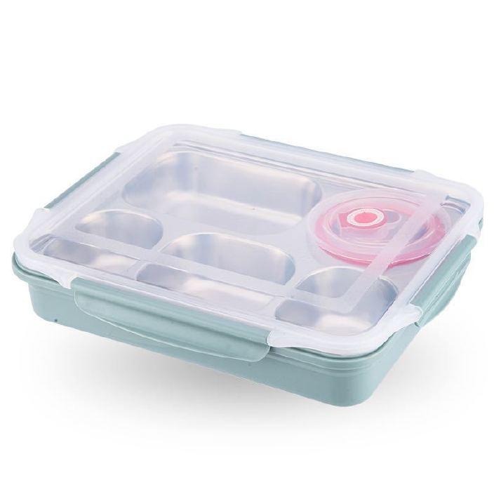 304保温饭盒不锈钢密封食堂成人分隔大容量快餐盘学生日式便当盒图片