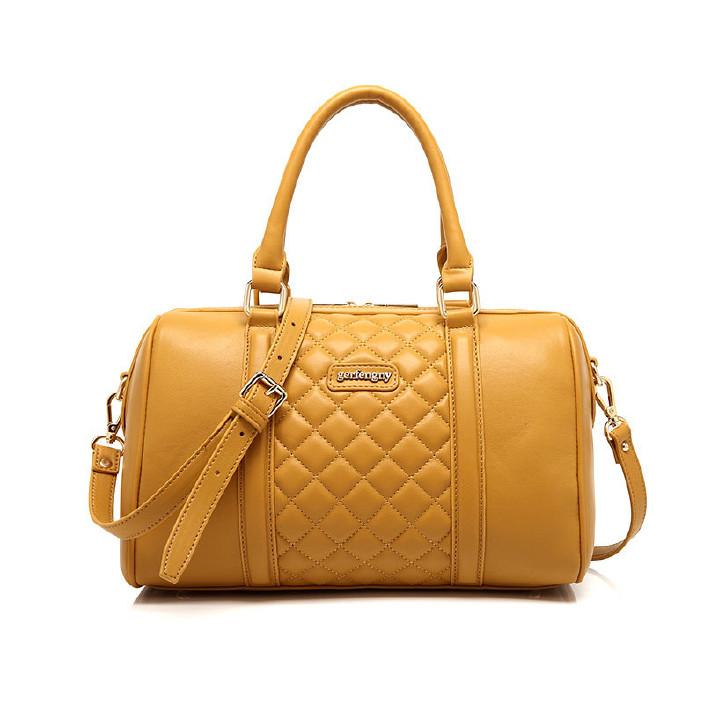 一件代發2018新款時尚潮流女包韓版品牌單肩手提斜跨包菱格枕頭包圖片