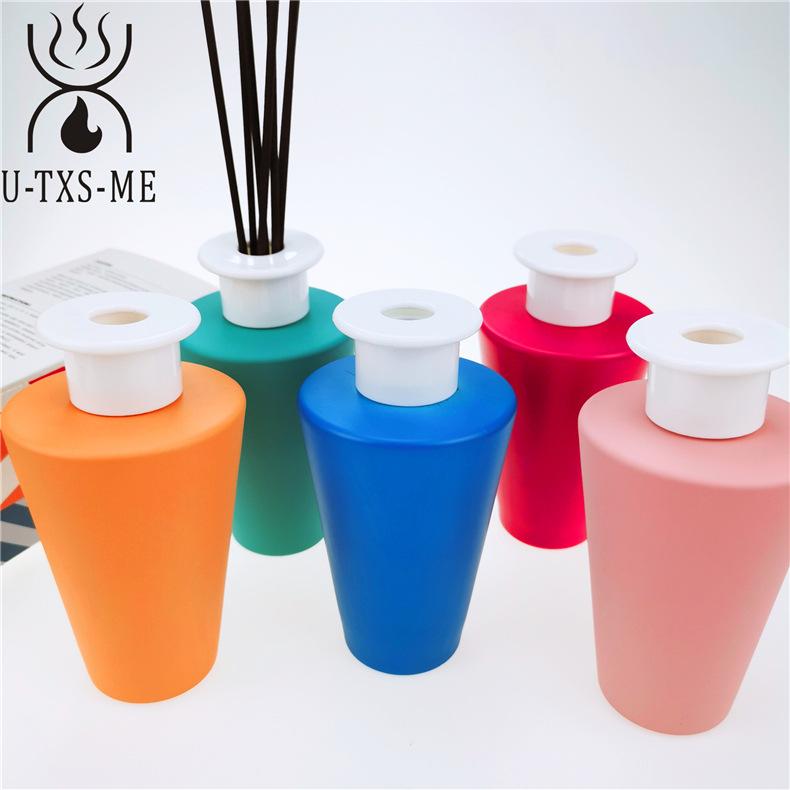 厂家定制新款锥形玻璃瓶家居植物精油环保藤条散香器无火爱博国际lovebet示例图6