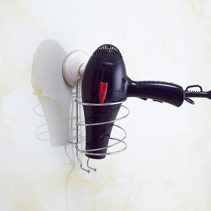厂家批发 创意不锈钢墙面电吹风置物架 家居日用品吹风机收纳架示例图7