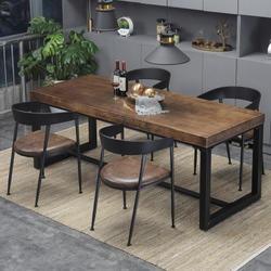 美式實木餐桌椅組合 簡約餐廳桌椅 現代餐廳家具 咖啡桌成套餐桌椅 廠家定制價格優惠