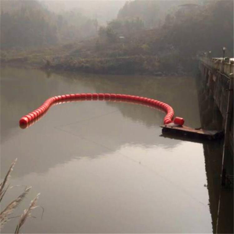 水电站拦污浮筒 塑料拦污浮体 浮筒式拦污排 环海塑料