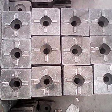 破碎機錘頭高鉻合金耐磨錘頭磚廠高鉻合金耐磨錘頭 高鉻
