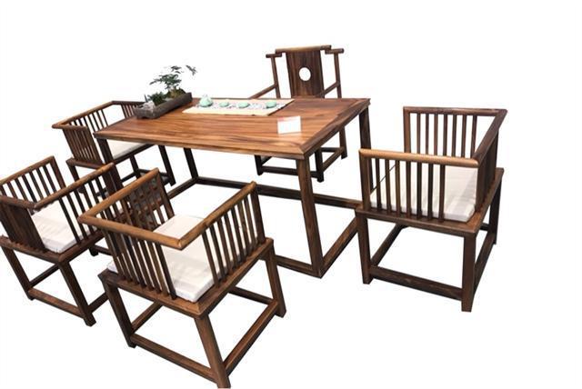 南美胡桃木茶桌六件套168*68*72可拆卖现代简约茶几竞技宝和雷竞技哪个好茶桌组合示例图12